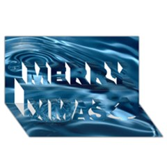 WATER RIPPLES 1 Merry Xmas 3D Greeting Card (8x4)