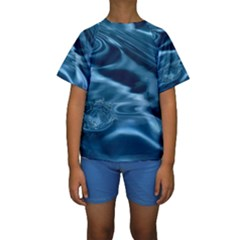 WATER RIPPLES 1 Kid s Short Sleeve Swimwear