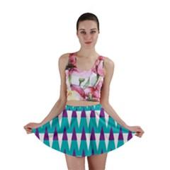 Peaks Pattern Mini Skirt