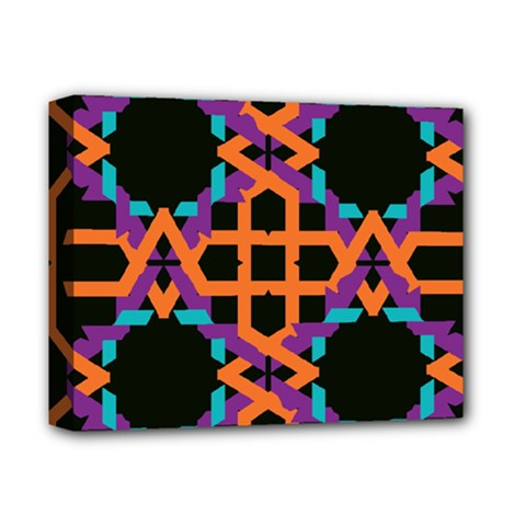Juxtaposed shapes Deluxe Canvas 14  x 11  (Stretched)
