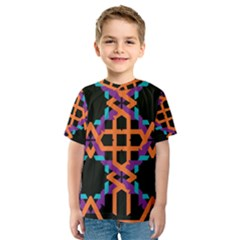 Juxtaposed shapes Kid s Sport Mesh Tee