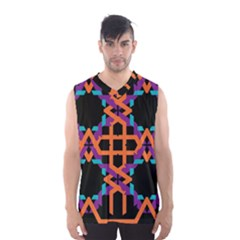 Juxtaposed Shapes Men s Basketball Tank Top