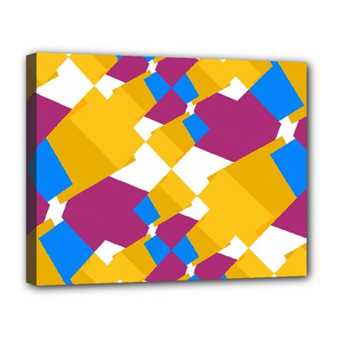 Layered shapes Canvas 14  x 11  (Stretched)