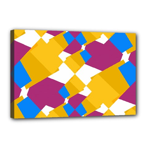 Layered shapes Canvas 18  x 12  (Stretched)