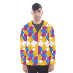 Layered Shapes Mesh Lined Wind Breaker (men)