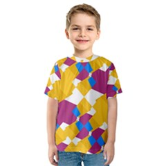 Layered shapes Kid s Sport Mesh Tee