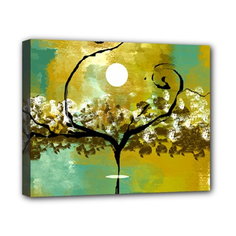She Open s to the Moon Canvas 10  x 8