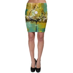 She Open s to the Moon Bodycon Skirts