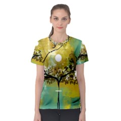 She Open s to the Moon Women s Sport Mesh Tees