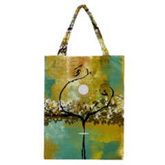 She Open s to the Moon Classic Tote Bags