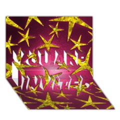 Star Burst You Are Invited 3d Greeting Card (7x5)