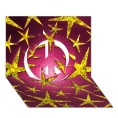 Star Burst Peace Sign 3D Greeting Card (7x5)