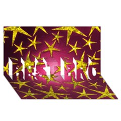 Star Burst BEST BRO 3D Greeting Card (8x4)