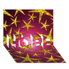 Star Burst HOPE 3D Greeting Card (7x5)
