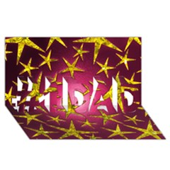 Star Burst #1 Dad 3d Greeting Card (8x4)