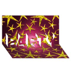 Star Burst PARTY 3D Greeting Card (8x4)