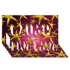Star Burst Laugh Live Love 3D Greeting Card (8x4)