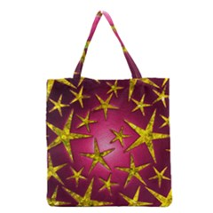 Star Burst Grocery Tote Bags