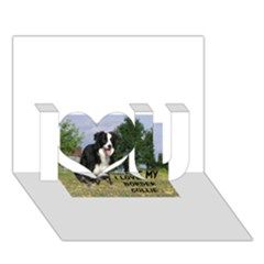Border Collie Love W Picture I Love You 3D Greeting Card (7x5)