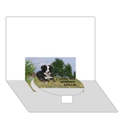 Border Collie Love W Picture Circle Bottom 3D Greeting Card (7x5)