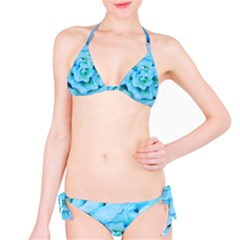 Blue Flower Bikini Set