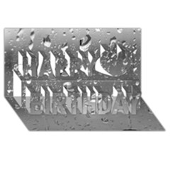 WATER DROPS 4 Happy Birthday 3D Greeting Card (8x4)