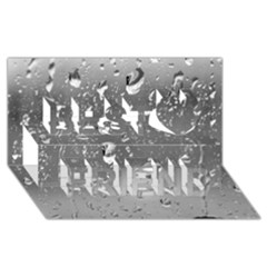 WATER DROPS 4 Best Friends 3D Greeting Card (8x4)