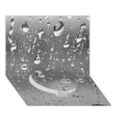 Water Drops 4 Circle Bottom 3d Greeting Card (7x5)