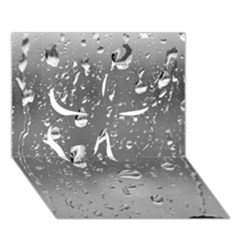WATER DROPS 4 Clover 3D Greeting Card (7x5)