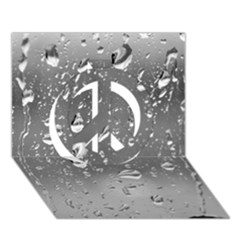 Water Drops 4 Peace Sign 3d Greeting Card (7x5)