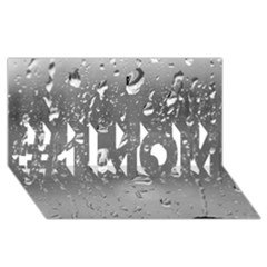 Water Drops 4 #1 Mom 3d Greeting Cards (8x4)
