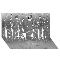 Water Drops 4 Best Sis 3d Greeting Card (8x4)