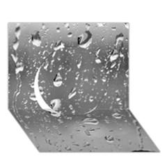 WATER DROPS 4 Circle 3D Greeting Card (7x5)