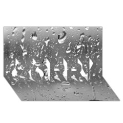 WATER DROPS 4 SORRY 3D Greeting Card (8x4)