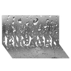 WATER DROPS 4 ENGAGED 3D Greeting Card (8x4)