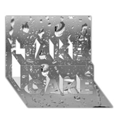 Water Drops 4 Take Care 3d Greeting Card (7x5)