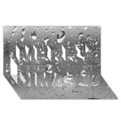 Water Drops 4 Merry Xmas 3d Greeting Card (8x4)