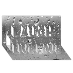WATER DROPS 4 Laugh Live Love 3D Greeting Card (8x4)