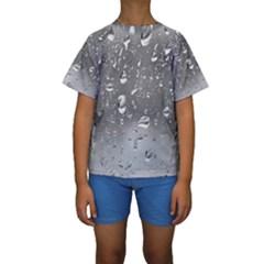 WATER DROPS 4 Kid s Short Sleeve Swimwear