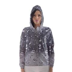 WATER DROPS 4 Hooded Wind Breaker (Women)