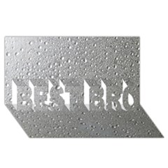 Water Drops 3 BEST BRO 3D Greeting Card (8x4)