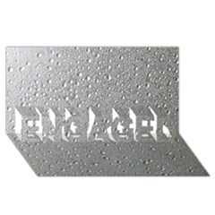 Water Drops 3 ENGAGED 3D Greeting Card (8x4)