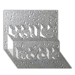 Water Drops 3 You Rock 3D Greeting Card (7x5)