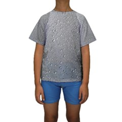 Water Drops 3 Kid s Short Sleeve Swimwear