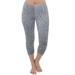 Water Drops 3 Capri Winter Leggings