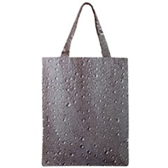 Water Drops 3 Zipper Classic Tote Bags