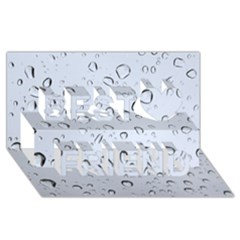 WATER DROPS 2 Best Friends 3D Greeting Card (8x4)