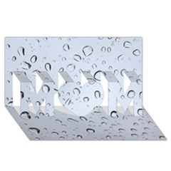 Water Drops 2 Mom 3d Greeting Card (8x4)
