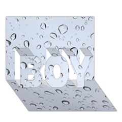 WATER DROPS 2 BOY 3D Greeting Card (7x5)