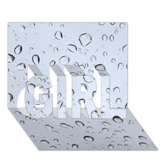 WATER DROPS 2 GIRL 3D Greeting Card (7x5)